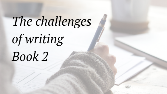 the challenges of writing book 2 of a series