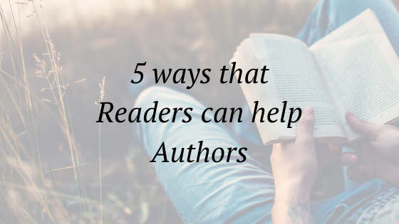 5 ways readers can help authors